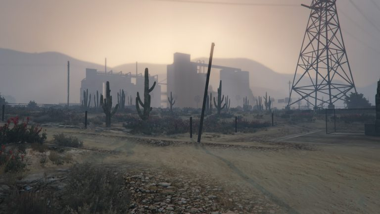"Sebastien Arrighi, Simile #17 - 2016 Landscape of the American ""Far West"", made inside a video game"