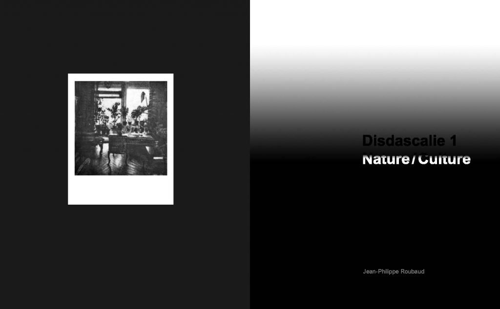 Jean Philippe Roubaud, Didascalie 1: Nature/Cullture. - Catalogue d'exposition